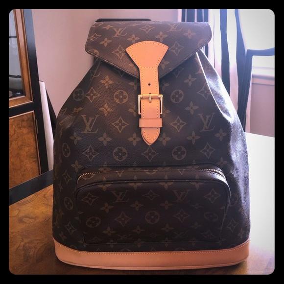 6325f065511c Louis Vuitton Handbags - Authentic Louis Vuitton Montsouris GM Backpack